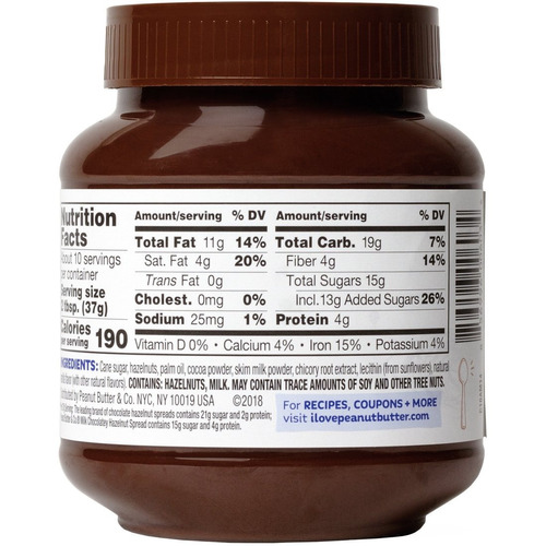 chocolate con avellanas traido de usa 369g