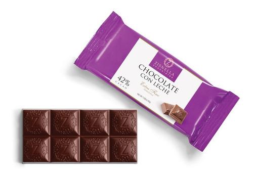 chocolate con leche 30g 42% cacao (12 unid)