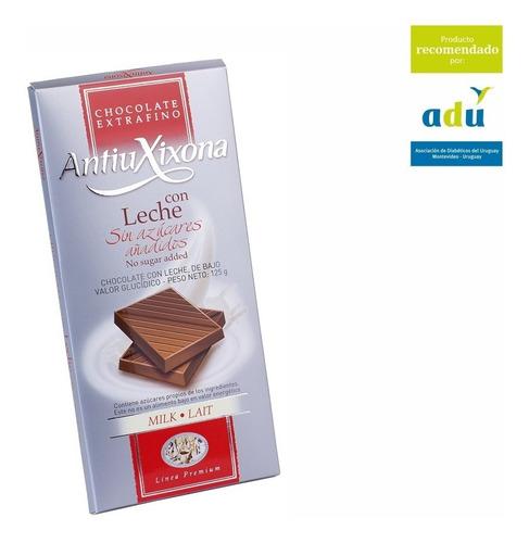 chocolate con leche antiu xixona - sello adu - diabetes