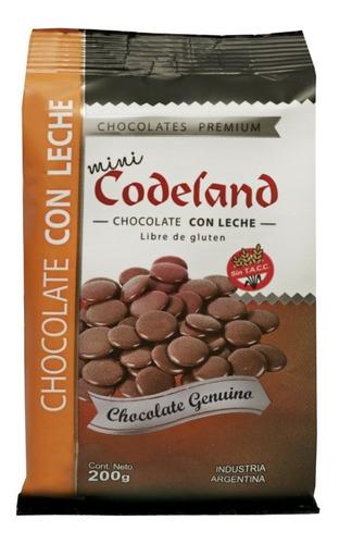 chocolate con leche mini codeland x 200 grs