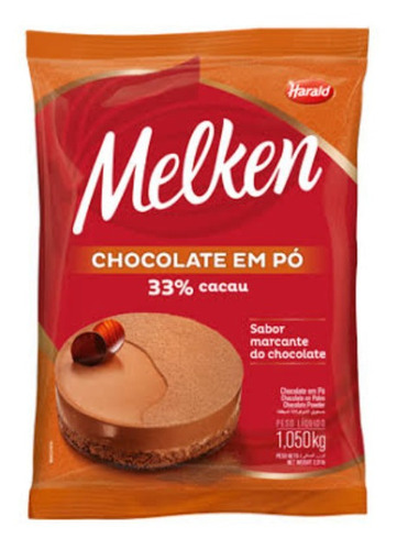chocolate em pó melken 33% 1,050kg