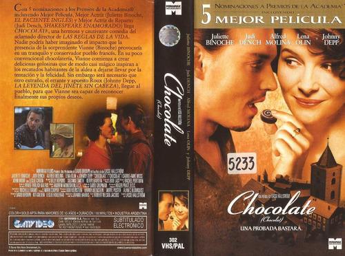 chocolate juliette binoche johnny depp lasse hallstrom vhs