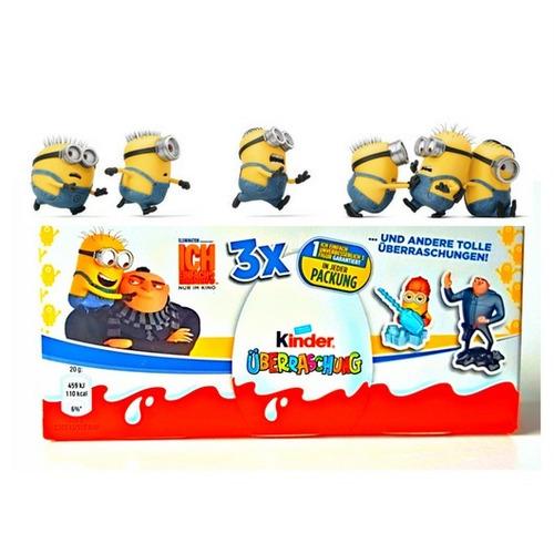 chocolate kinder sorpresa película minions mvf3 x 3 unidades