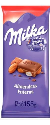 chocolate milka con almendras 155 gr