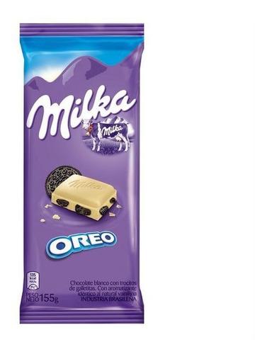 chocolate milka oreo, almendra, caramelo y leche