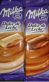 Chocolate Milka X 135 Gs Relleno Dulce De Leche Floresta