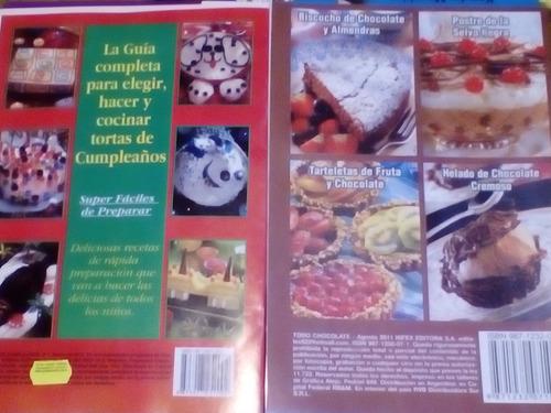 chocolate paso a paso y tortas de cumpleaños 2 libros