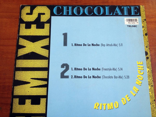 chocolate - ritmo de la noche. vinilo. alemania. 1990