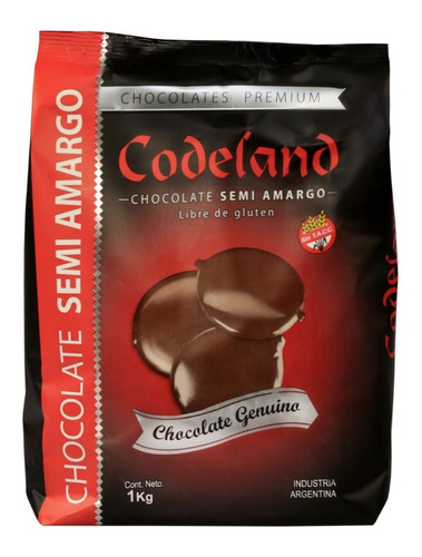 chocolate semi amargo  codeland x 1 kg
