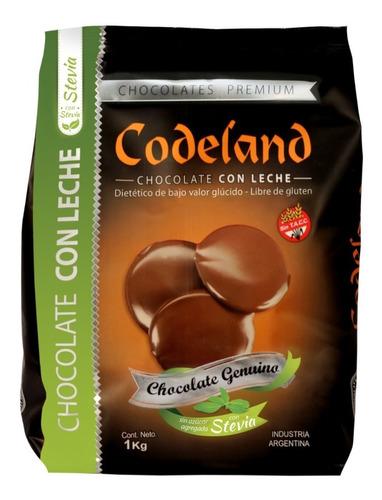chocolate sin azúcar agregada con leche codeland x 1 kg