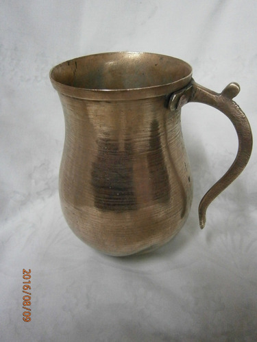 chocolatera en cobre antigua
