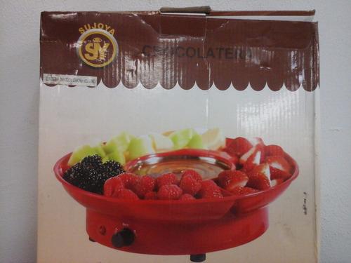 chocolatera marca sujoya de uso con su caja