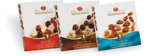 chocolates delafaille belgas 12 cajas  50 g