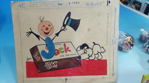 chocolatin jack personajes - antiguo boceto de publicidad