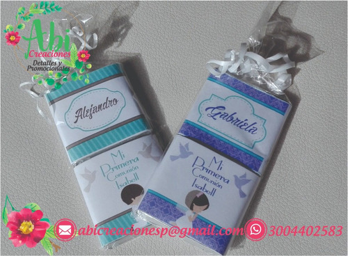 chocolatinas - chocolate personalizadas recordatorios