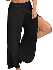 c23ec17d5018 Choies Para Mujer Elastico Alta Hendidura Pantalones Palazzo
