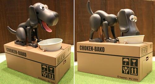 choken bako alcancía electrónica perro come monedas