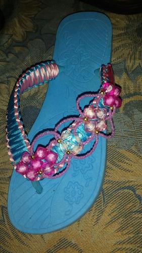 cholas de gomas decoradas