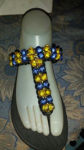 cholas de gomas decoradas con bisuterias