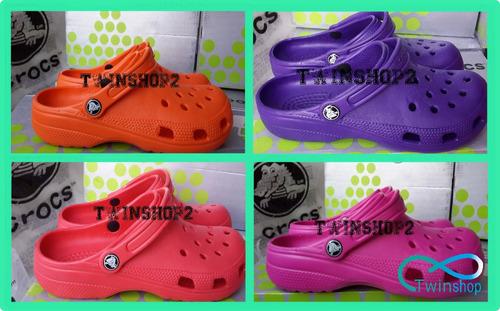 cholas sandalias crocs clasicas colores dama caballero niños