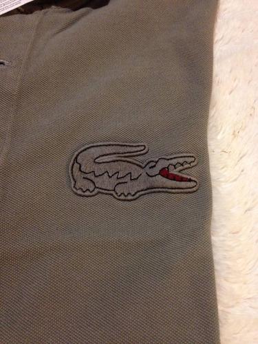 chomba lacoste original talle 3 cocodrilo grande