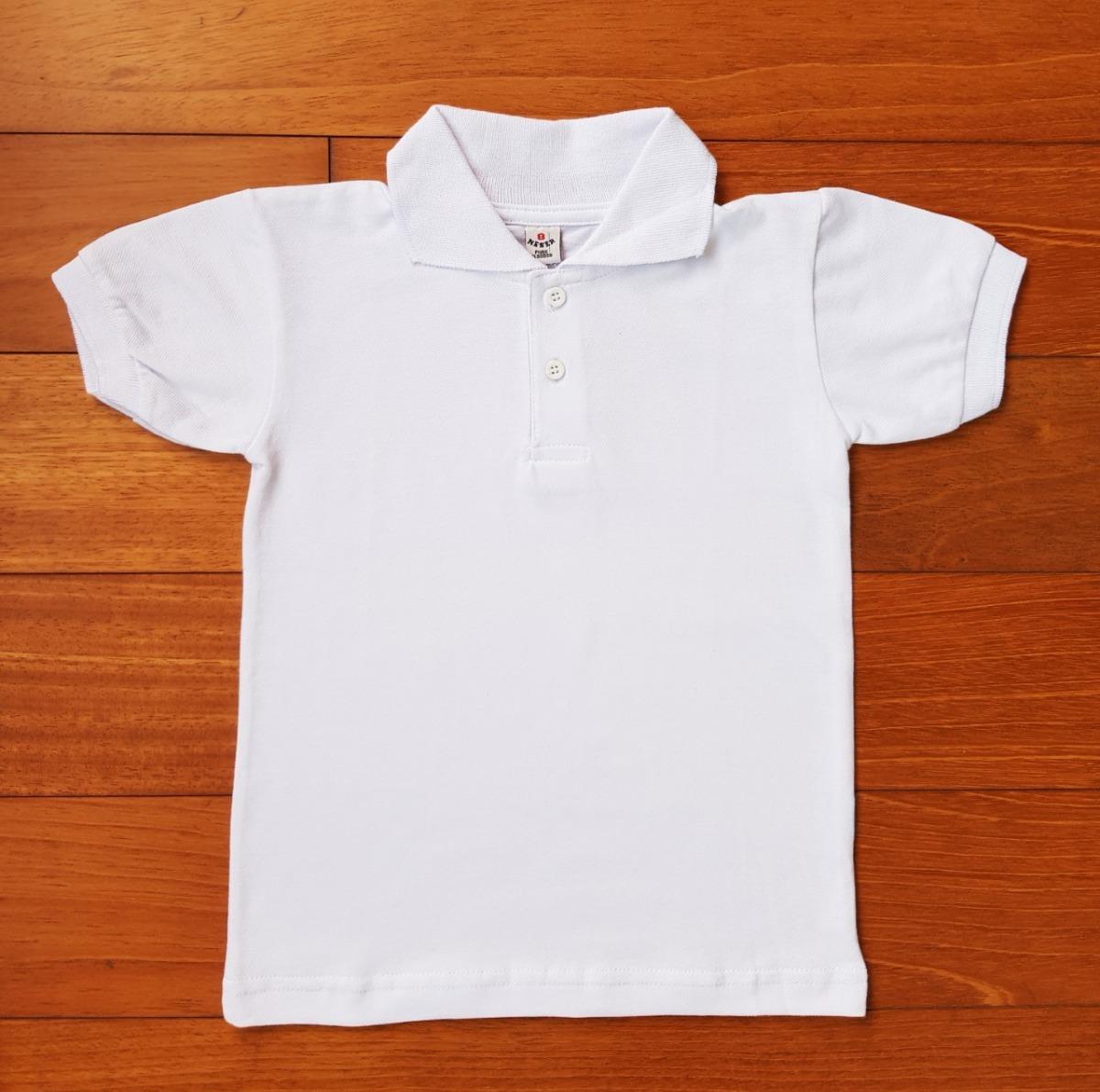 469ccd691c0 chomba piqué mangas cortas blanca para niños talle 6 al 12. Cargando zoom.