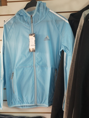 chompa adidas capucha fitness hombre/mujer gym rompevientos