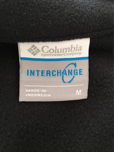 chompa columbia negra original talla m