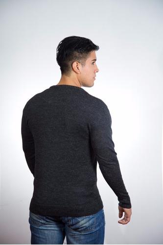 chompa cuello redondo para hombre 100% alpaca