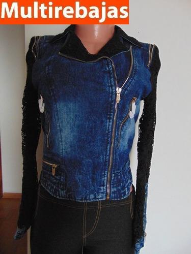 chompa de mujer jeans cierre al costado  talla s