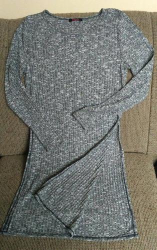 chompa larga entallada stretch estilo vestido talla m nueva