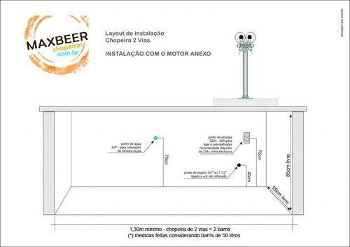 chopeira 3 vias naja premium - torre congelada completo