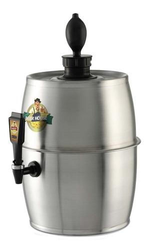 chopeira chopp cerveja beer house 5,6 litros em alumínio