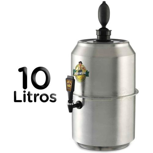 chopeira king beer grande 10 litros chopp cerveja 28 latas
