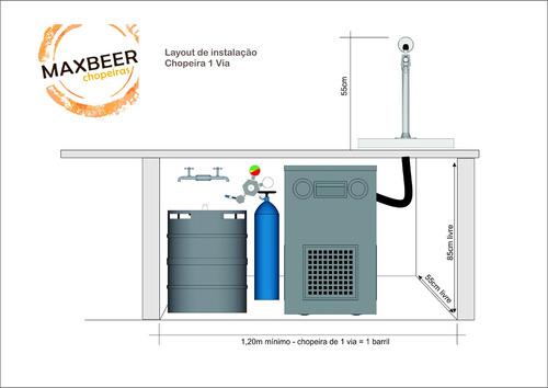 chopeira naja 1 via suada - instalada até 100km garantia