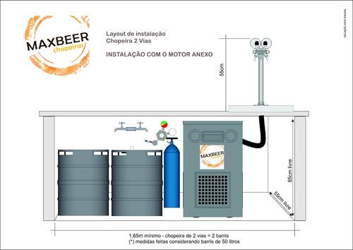 chopeira naja premium 2 vias suada - instalada até 100km