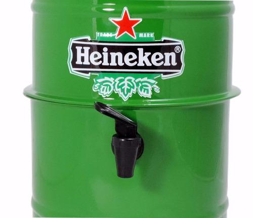 chopeira portátil 5,1 l p cervejas / verde heineken + brinde