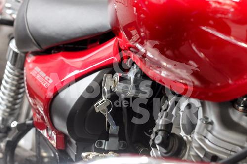 choper avenger street 220 2017 0 km motos del sur roja