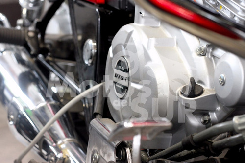 choper custom avenger 220 2017 0 km motos del sur roja