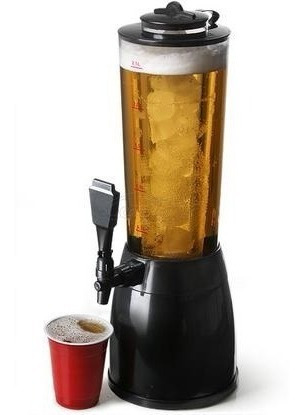 chopera dispenser de cerveza fernet champagne tubo p/ hielo