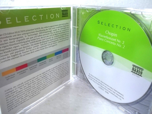 chopin piano concerto n° 2 cd importado naxos
