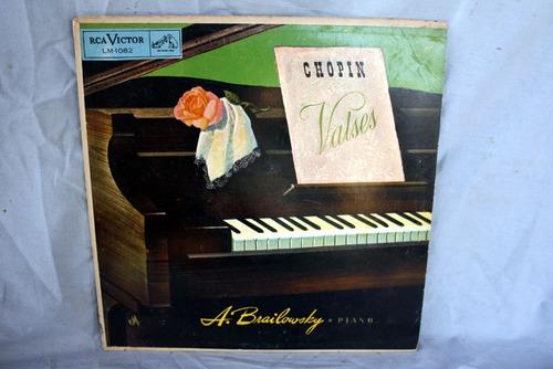 chopin valses, a. brailowsky piano - vinilo lp