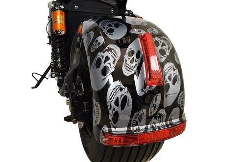 chopper scooter bike elétrica 1500w leds bat litio branco
