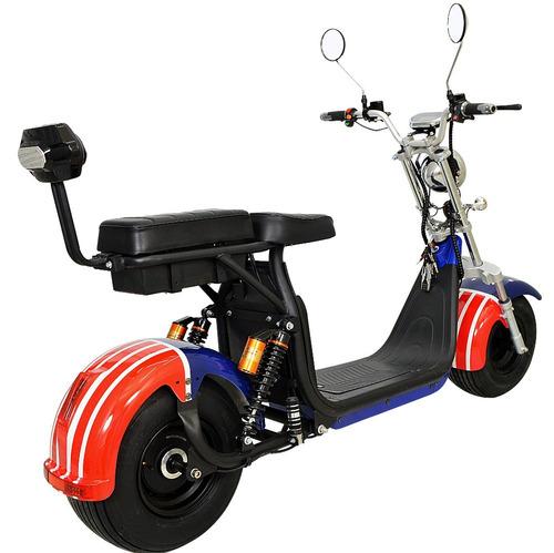 chopper scooter bike elétrica 1500w leds bat litio eua
