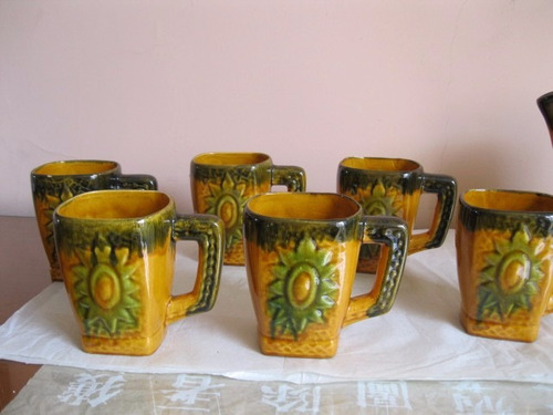 chops cerveza 6/ chopera vintage de cerámica - década 1960