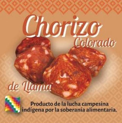 chorizo colorado de llama 140 grs. embutidos de la puna