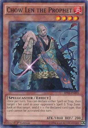 chow len the prophet - bp03-en093 - shatterfoil rare 1st edi