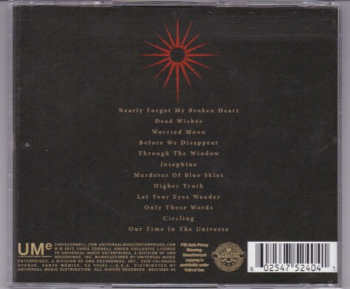chris cornell higher truth cd from nuevo sellado disponible