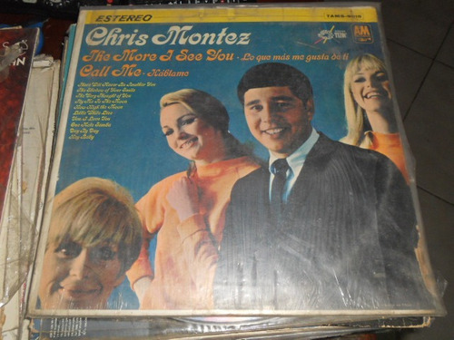 chris montes  disco de vinyl 12 pulgadas lo que mas me gusta