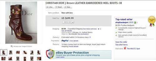 christian dior botas originales